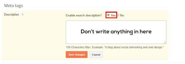 When you select Yes, it will open a dialogue box where you can enter the description