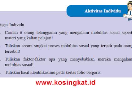 Kunci Jawaban IPS Kelas 8 Halaman 83 Aktivitas Individu