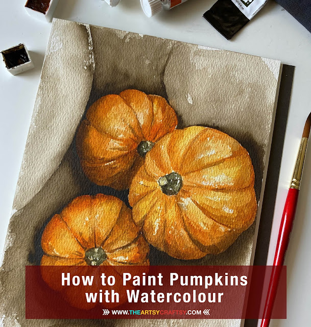 How to Paint Pumpkins in Watercolour with Cassie Wong