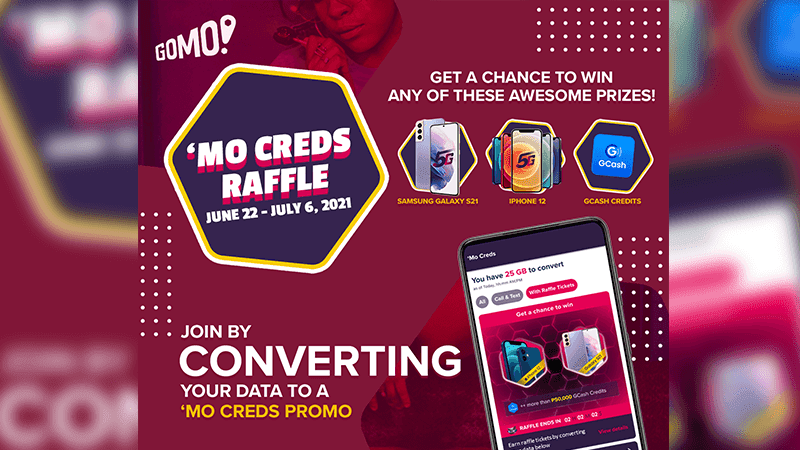 GOMO launches 'Mo Creds raffle with new iPhone or Samsung phones as prizes!