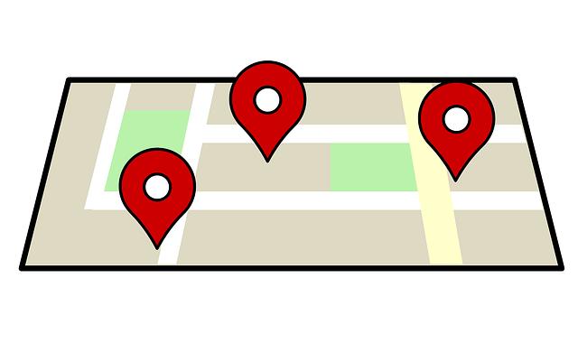 mapa, localização, gps