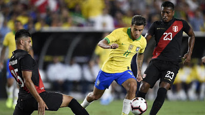 Video Cuplikan Gol: Brasil 0-1 Peru (Friendly)