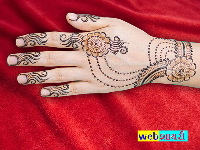 easy simple mehendi design for hands