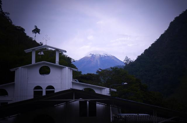 Iglesia with view of Nevado de Tolima.