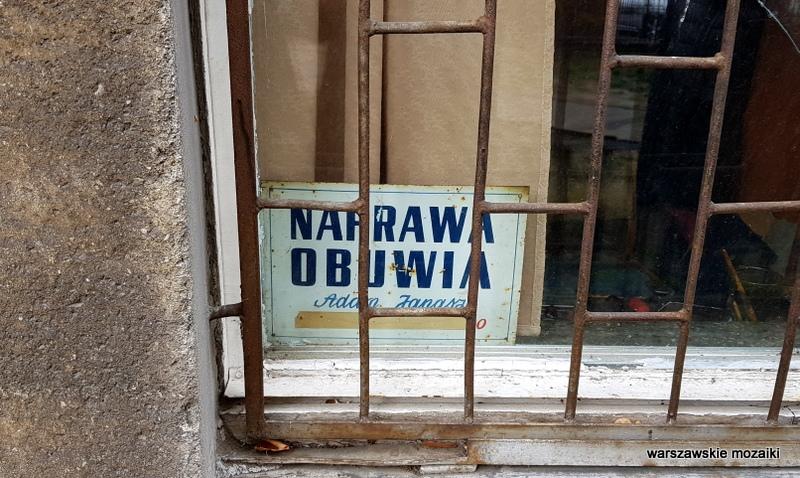 Warszawa Warsaw szyld retro tabliczka obuwie
