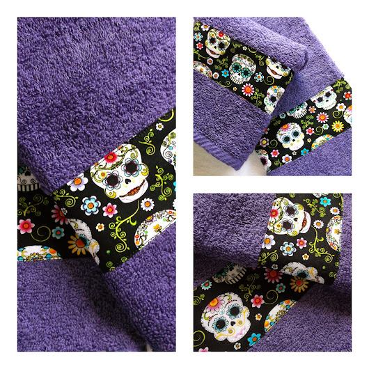 Purple Sugar Skull Towels