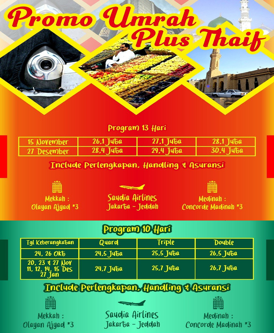 alhijaz indowisata travel umroh plus thaif