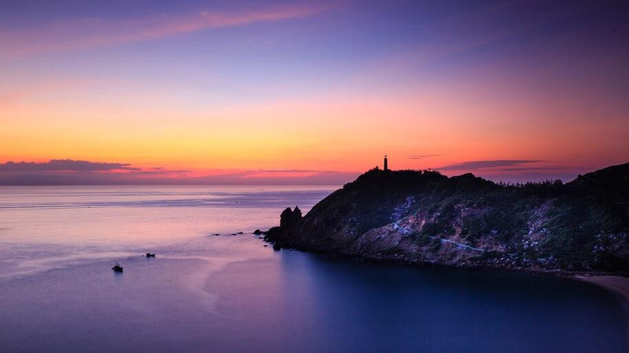 Coast, Sunset, Lighthouse, Scenery, 8K, #6.911