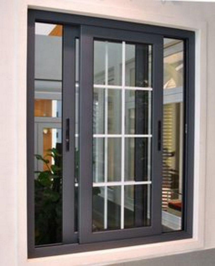 pintu cermin aluminium 3