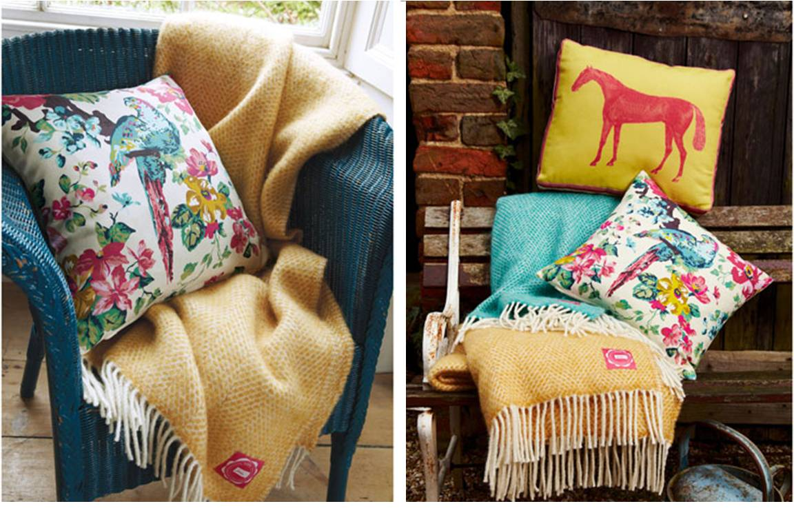 One of my picks from the new Joules homeware collection are these colourful cushions!