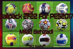 NEW Ballpack Season 2021-22 (50 Balls) - PES 2017