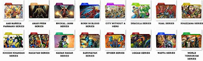 Folder Icons of Raj Comics Popular Series