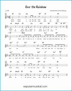 chord over the rainbow lagu jazz standar