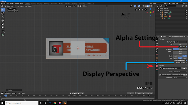 Use Alpha Display Perspective Blender 2.8
