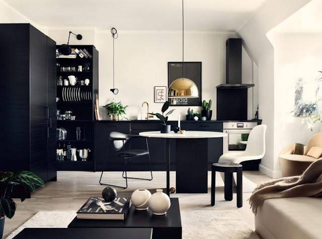 Amenajare elegantă într-un apartament de numai 46 m² din Suedia
