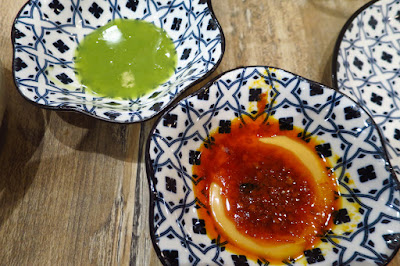 Mrs Pho House, green chilli/spicy fermented beancurd dips