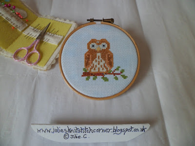 LITTLE OWL CROSS STITCH