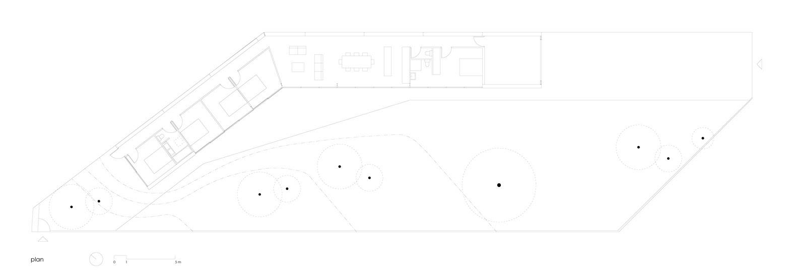 Plano de arquitectura de la planta de la casa