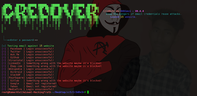 Cr3d0v3r Credential Reuse Attack Tool