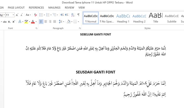 Cara Install Aplikasi Qur'an Di MS Word 2013
