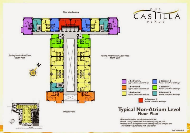 One Castilla Place Non-Atrium Level Floor Plan