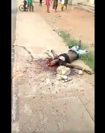#PostElectionRiot: Okokomaiko on Fire As Police shot an Hausa man While celebrating Buhari's Victory, Three Confirmed Dead and DPO Injured (GRAPHIC VIDEO)