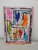 rolled paperart, schilderij