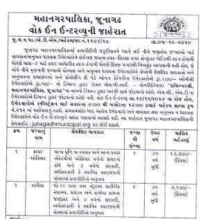 Junagadh Municipal Corporation Swimmer Recruitment 2019 – Previous Paper