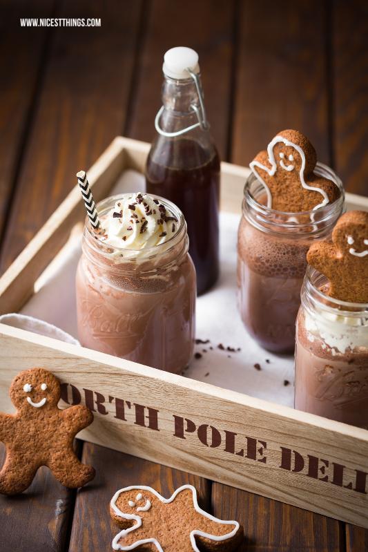 Heisse Schokolade mit Lebkuchensirup