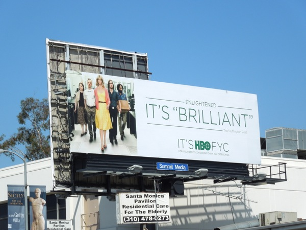 Enlightened Brilliant HBO Emmy billboard