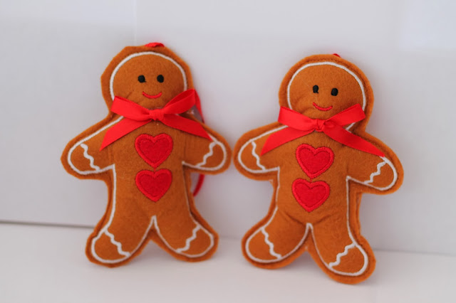 Gingerbread Man Presents Christmas Tree Ornament