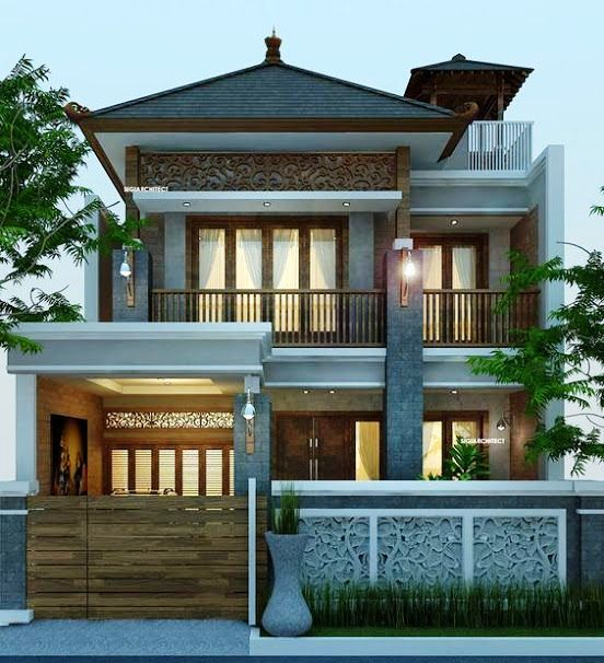 15 Inspirasi Fasad Rumah Minimalis 2 Lantai Dengan Atap Limasan