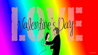 Dansende mensen en de tekst Valentines Day