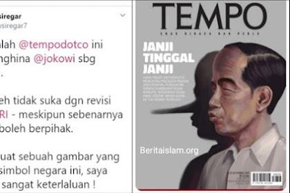 Hidung Jokowi Dibuat Macam Pinokio, Denny Siregar Sebut Cover Majalah TEMPO Keterlaluan