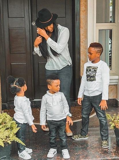 Anita Okoye shares beautiful new photos with her kids