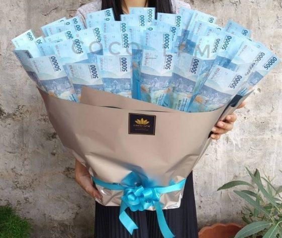 10 Inspirasi Buket Uang Untuk Cewek Spesial, Auto Diterima
