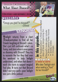 MLP What About Discord? Series 4 Trading Card