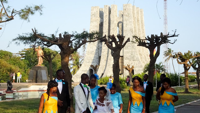 Wedding at the memorial park in Ghana