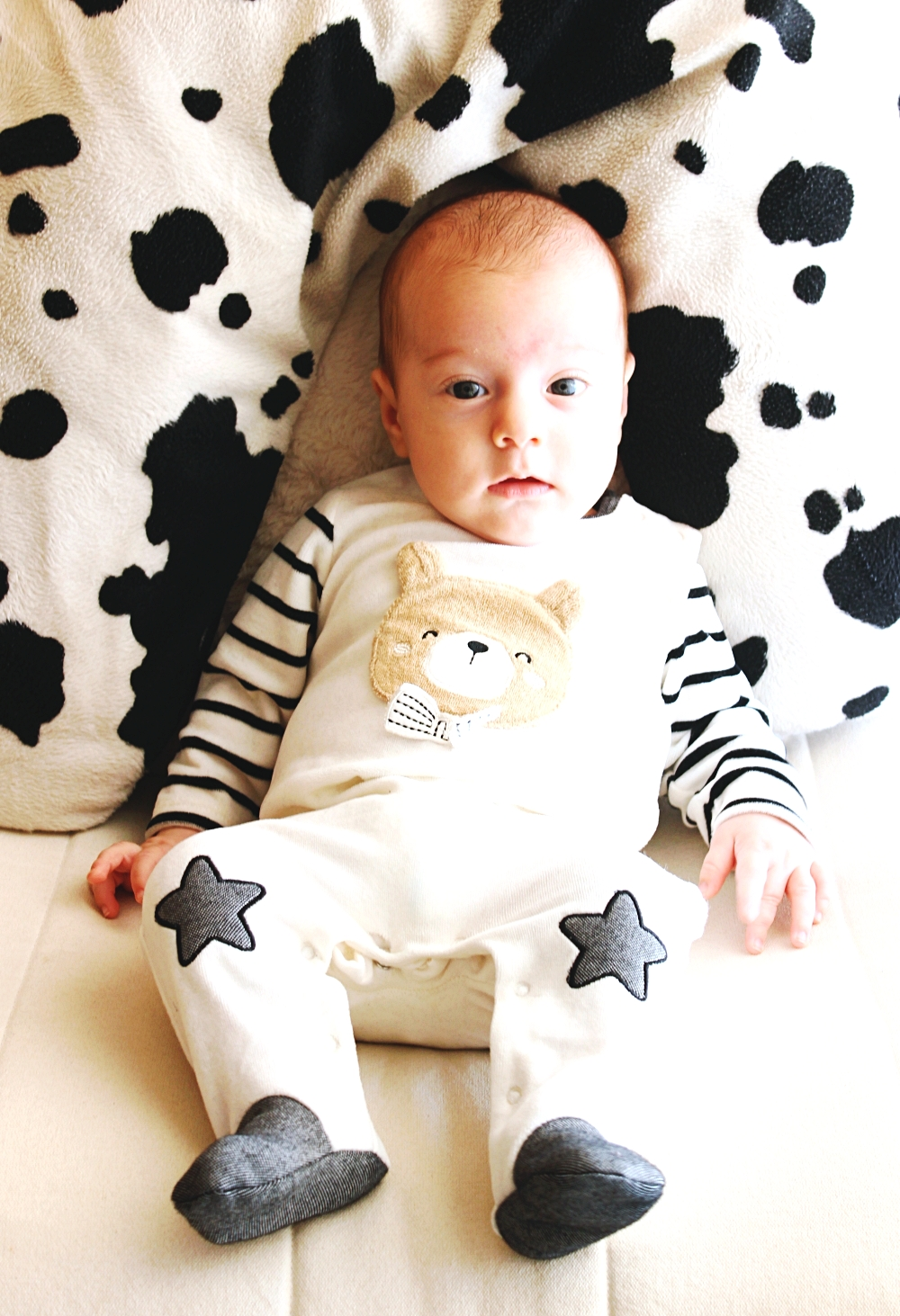 striped onesie for newborn baby, Mayoral kid fashion