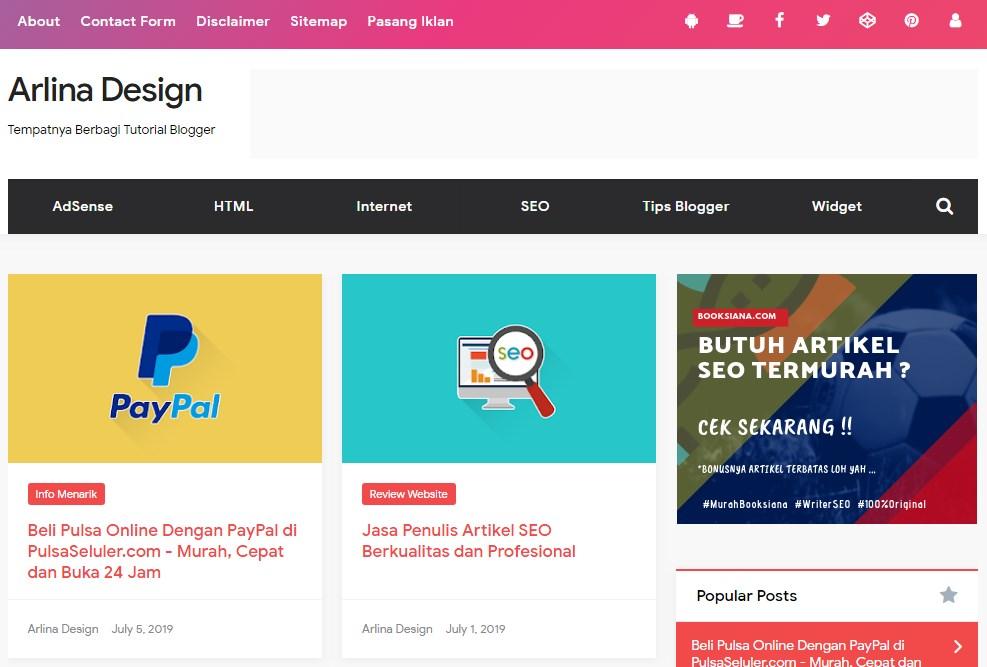 Situs,panduan,ngeblog,arlina,Design