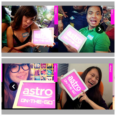 Buddies from Nuffnang and ChurpChurp with Astro On-The-Go