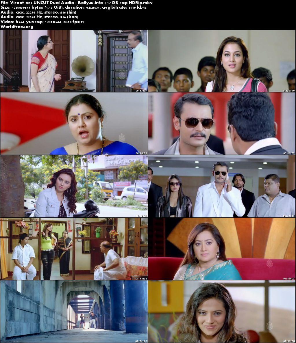 Screen Shoots of Watch Online Viraat 2016 HDRip 1.1Gb UNCUT Hindi Dual Audio 720p Free Download Bolly4u.info
