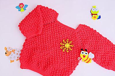 1 - Crochet Imagen Jarsey de nina a crochet muy rapido y sencillo por Majovel Crochet