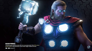Thor with glowing hammer