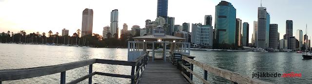 Menikmati Sunset di Kangaroo Point Brisbane Australia