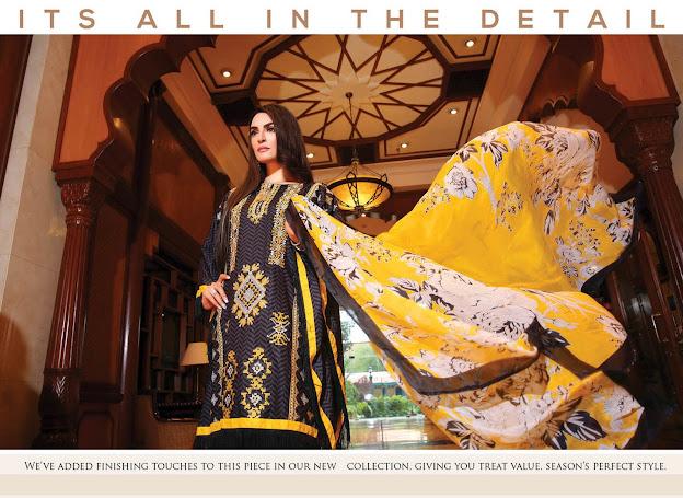 Nadia Hussain New Eid Black & Yellow