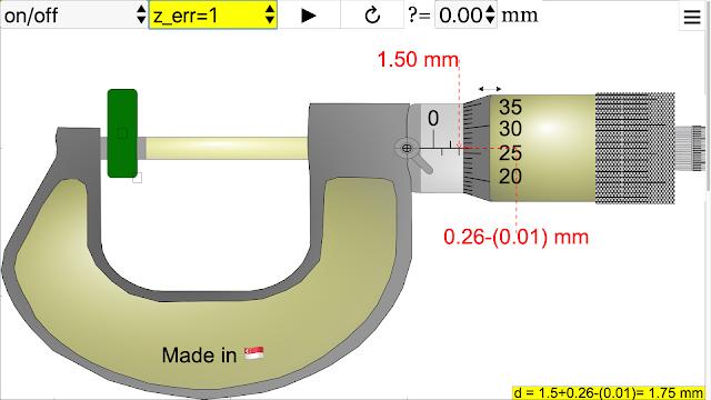 Micrometer JavaScript HTML5 Applet Simulation Model - Open