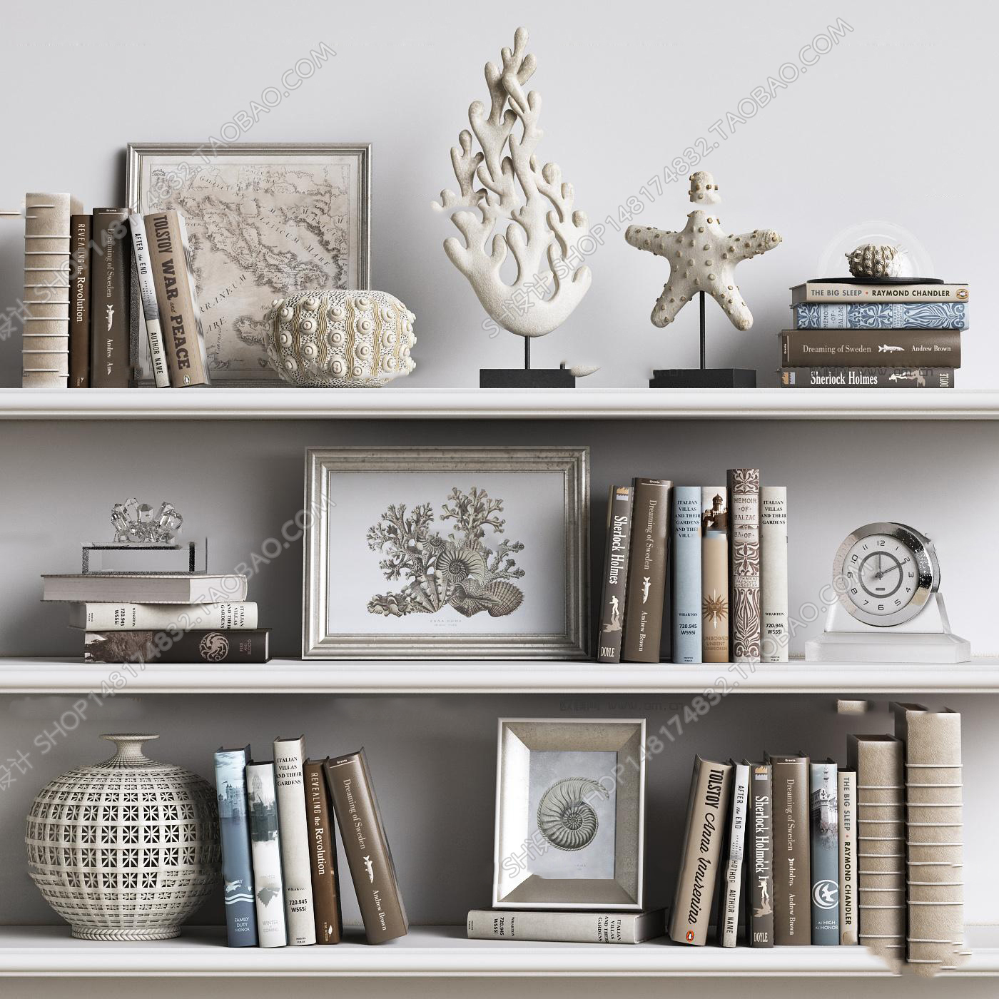 6  Decorative Set Free Sketchup Model