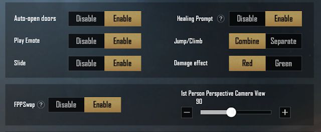 Enable or Disable Sliding Feature, FPP Swap feature