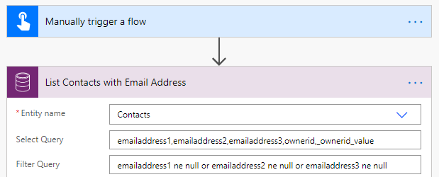 List Contacts with Email Address